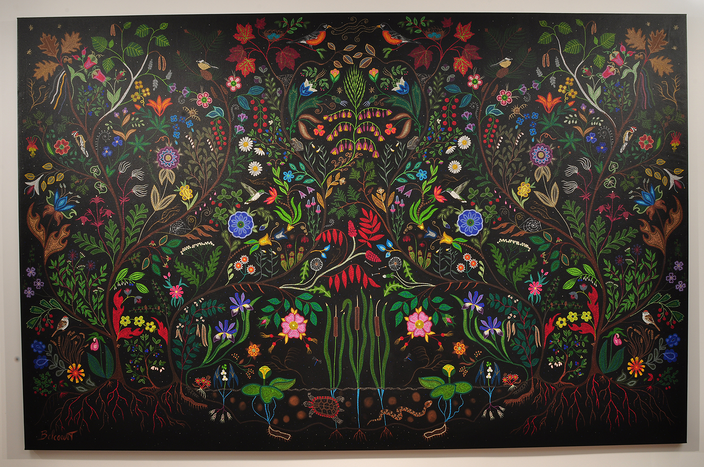 My Heart is Beautiful Acrylic on Canvas, 2009 approx. 9ft x 12ft Collection of the Gabriel Dumont Institute