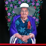 """Portrait of Rose Fleury 2012 Acrylic on Canvas, 36"""" x 48"""" Collection of the Gabriel Dumont Institute"""