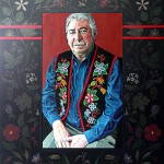 """Portrait of Tony Belcourt 2005/6 Acrylic on Canvas, 36"""" x 48"""" Collection of the Gabriel Dumont Institute"""