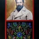 "Portrait of Louis Riel 2011 Acrylic on Canvas, 36"" x 48"" Collective of the Gabriel Dumont Institute"